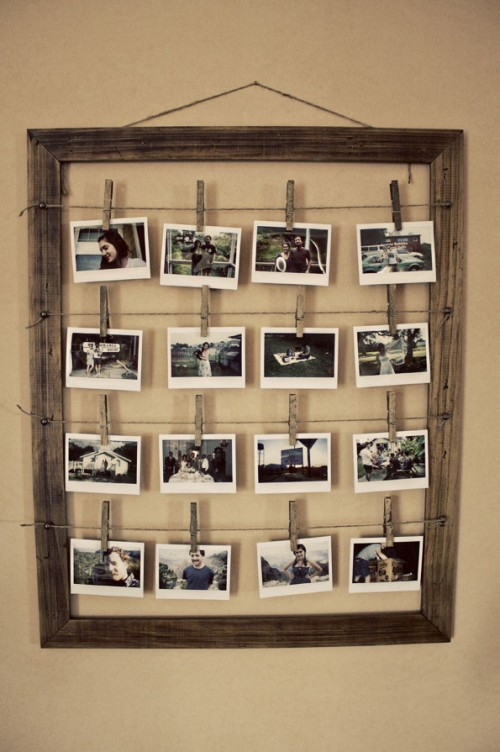 how to make a rustic photo collage frame the rabbit